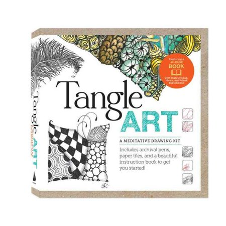 Tangle Art a Meditative Drawing Kit: A Meditative Drawing Kit: Includes Archival Pens, Paper Tiles, and a Beautiful Instruction Book to Get You Started!