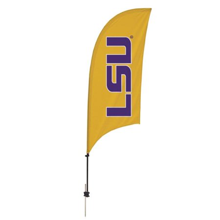 Ncaa Door Flag - Victory Corps 810028LSU-002 7.5 ft. LSU Tigers Razor Feather NCAA Flag with Spike Base - No.002