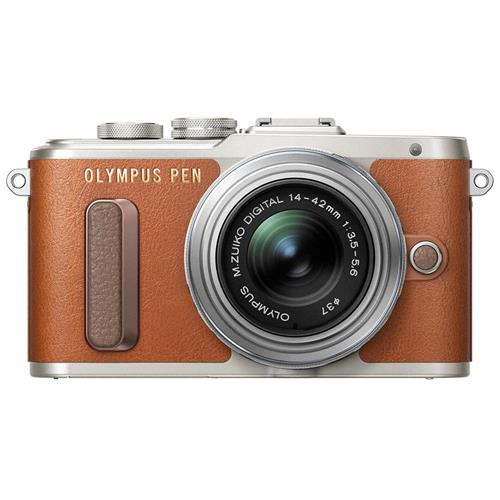 Olympus PEN E-PL8 - Digital camera - mirrorless - 16.1 MP - Four Thirds - 1080p / 30 fps - 3x optical zoom M.Zuiko Digital 14-42mm II R lens - Wi-Fi - brown
