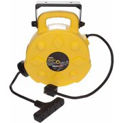 BAYCO SL-8904-40 40 ft. 12/3 Poly Cord Reel,w/4 Outlets,15A,40 ft 15 Amps 4