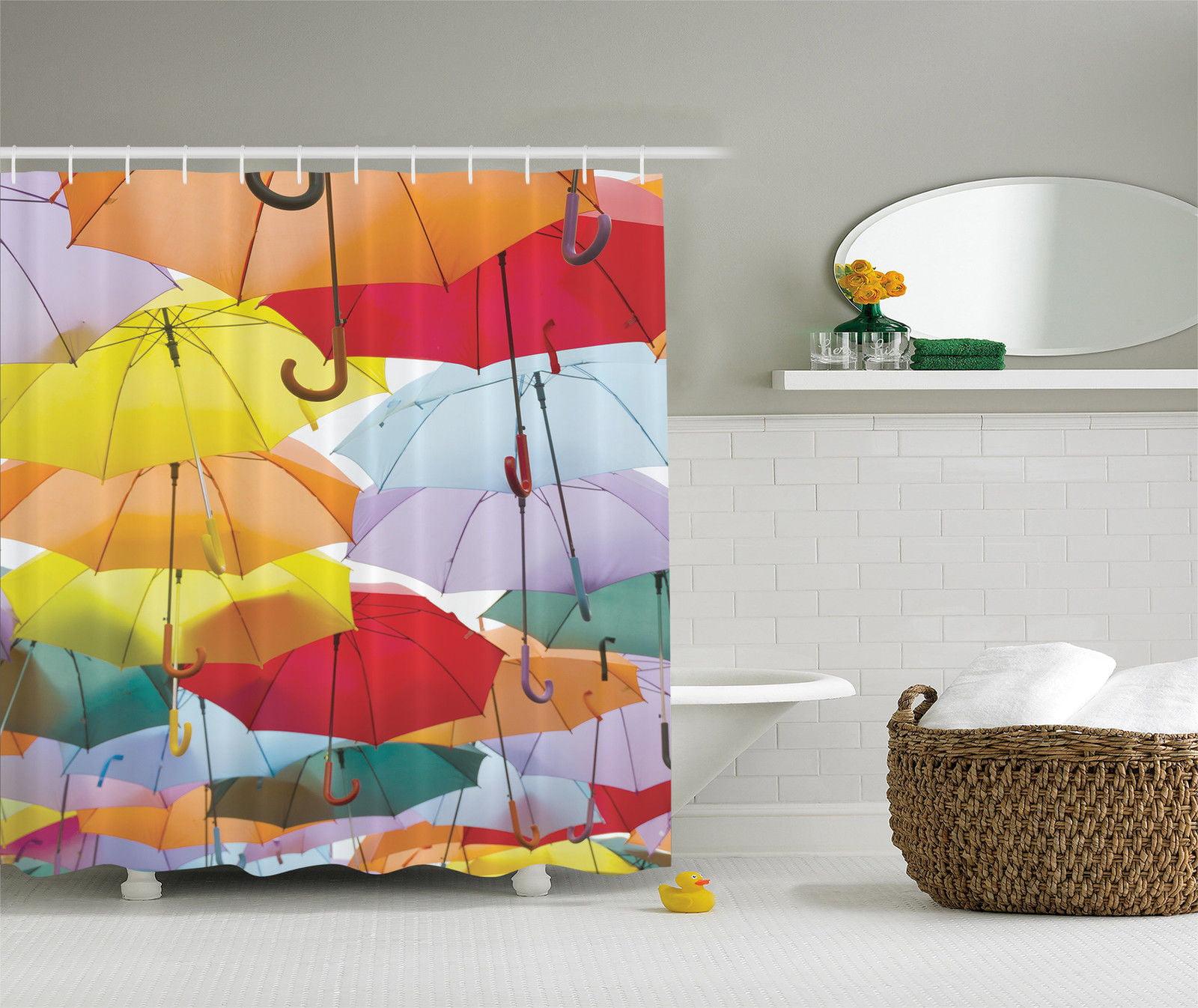 Waterproof Fabric Bathroom Liner Spanish Vintage Street Shower Curtain Set Mat