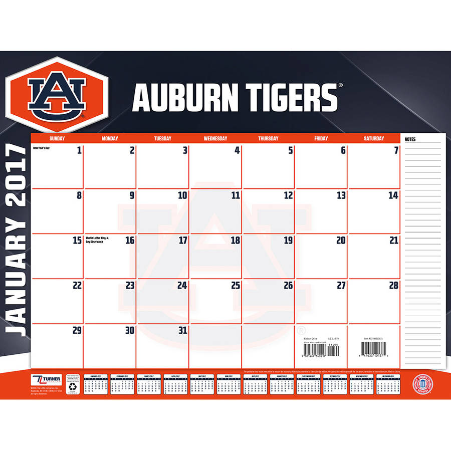 Turner Sports 2017 22 Quot X 17 Quot Desk Calendar Auburn Tigers