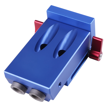 accessoire de clip pour le travail du bois pince de fixation de trou oblique en acier alli/é plage de serrage r/églable de 25 /à 110 mm pour trou inclin/é pour le travail Clip de forage pour le bois