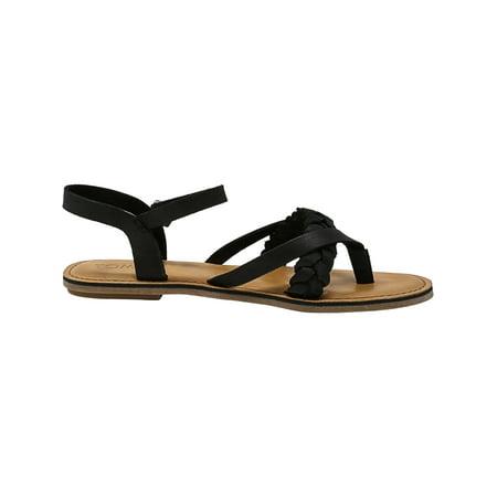 63c25c7e17f Toms Women s Lexie Leather Black Sandal - 9.5M - image 1 ...