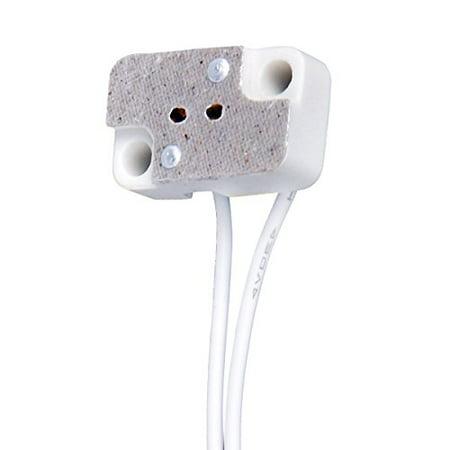 Mr11 Led Lamp - 10 PCS MR16 MR11 Rectangular Porcelain Lamp Holder with 6'' Cable for G4 GX5.3 Bi-Pin Halogen Led Bulbs