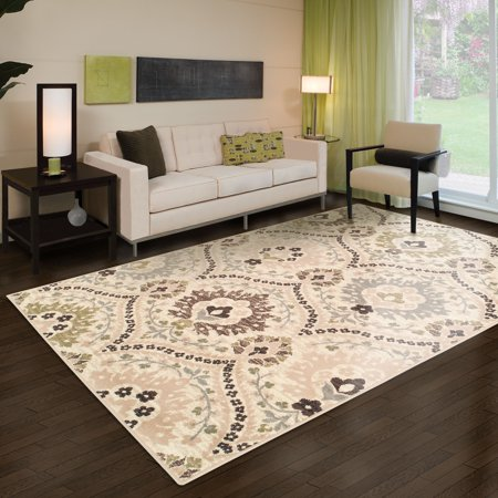 Superior Augusta Collection Area Rug, 8mm Pile Height with Jute Backing