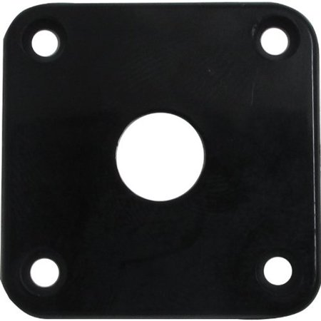 Jack plate - Black Plastic, Fits Les Paul By