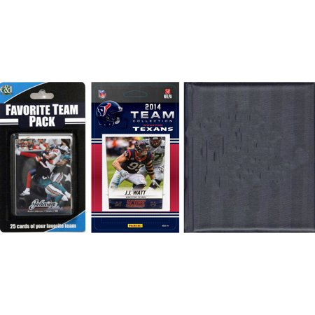 C&I Collectables NFL Houston Texans Licensed 2014 Score Team Set and Favorite Player Trading Card Pack Plus Storage Album