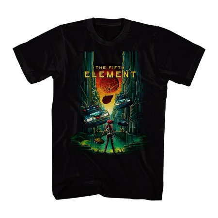 The Fifth Element 5th Element Men's Black T-shirt NEW Sizes S-2XL - 5th Element Outfit