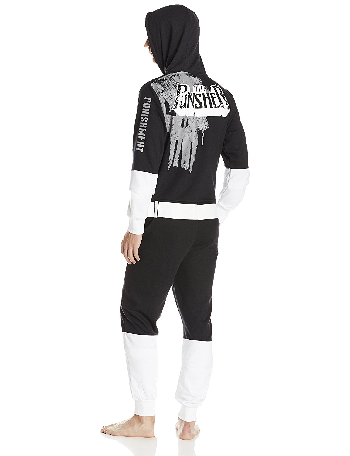 Marvel The Punisher Mens Fully Loaded One Jumpsuit Sweatshirt