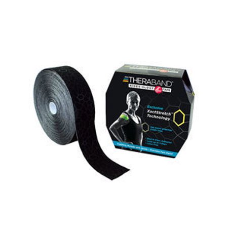 TheraBand Kinesiology Tape With XactStretch Indicator For Perfect Stretch and Application Every Time, Best In Class Adhesion, Water Resistant, 2 Inch x 103.3 Foot Bulk Roll,