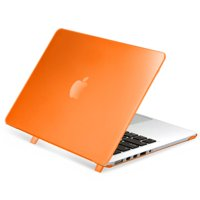 Insten For Apple MacBook Pro 2015 2014 13 inch case with Retina Display Clip-on Matte Rubber Hard Case shell cover, Clear Orange