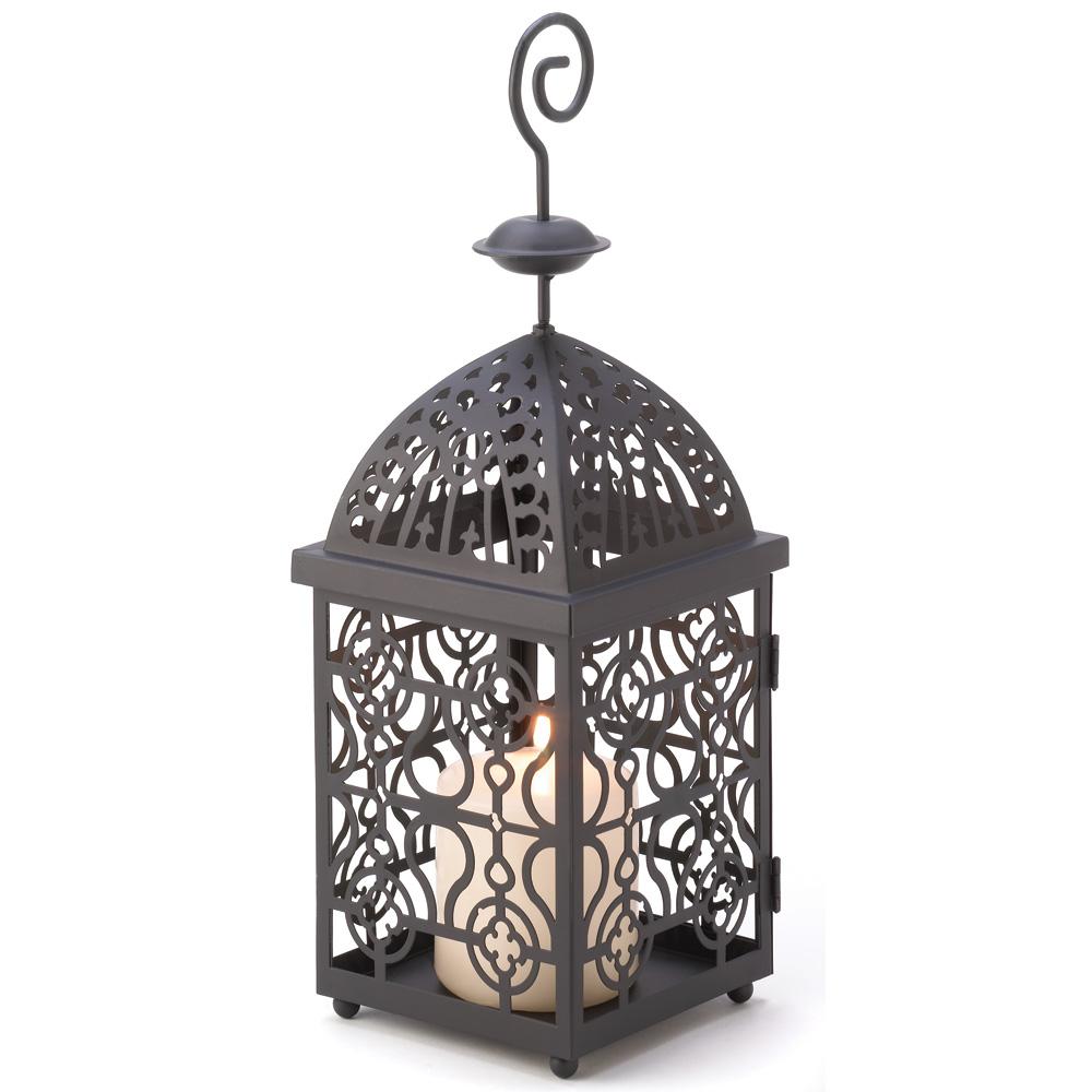 Candle Lanterns, Outdoor Metal Hanging Birdcage Moroccan Candle Lantern Holder