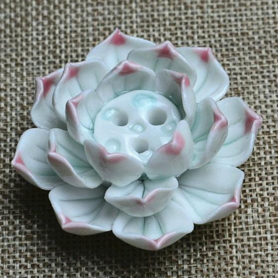 New Ceramic Incense Burner Stick Holder Lotus Catcher Plate Natural 3 Holes - Walmart.com
