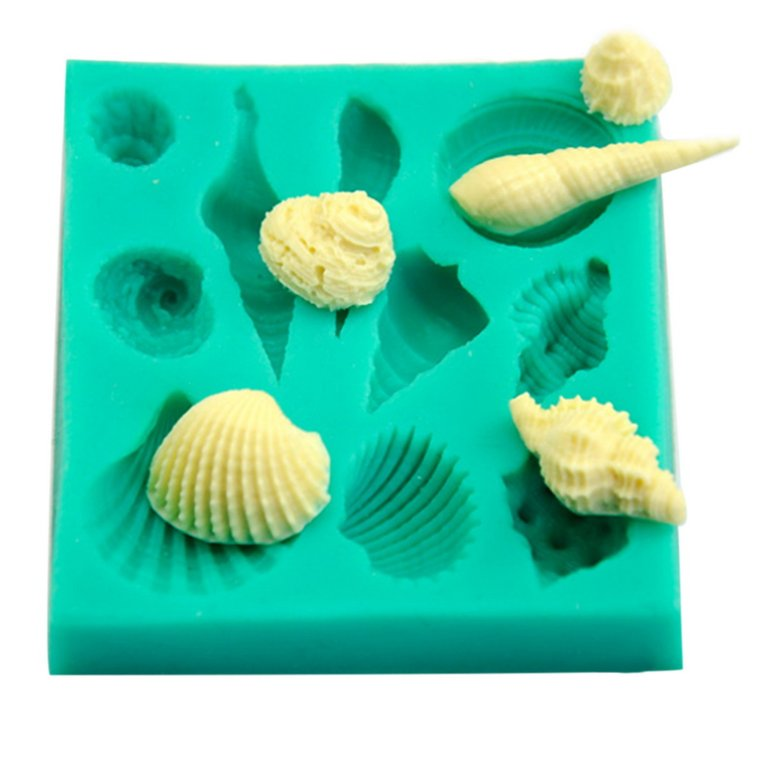 Silicone 3D Seashell Beach Shells Cake Molds Chocolate Mould Decoration