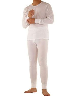 SLM ThermaTek Men's Cotton Thermal Long Johns Underwear Two Piece Set