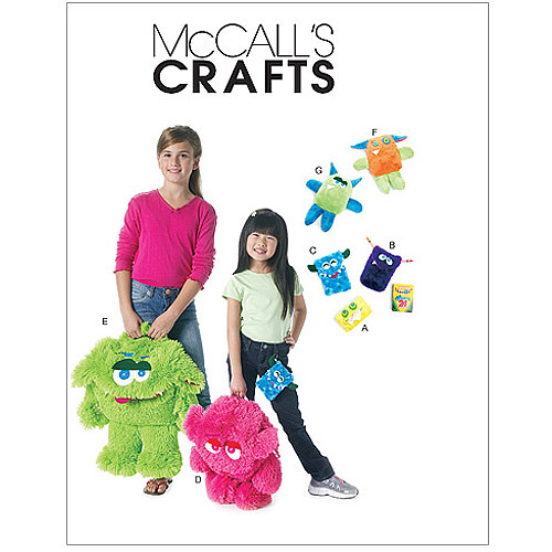 McCall's Pattern Backpacks, Cases and Toys, 1 Size Only