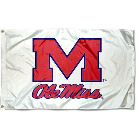 - Mississippi Rebels White 3' x 5' Pole Flag
