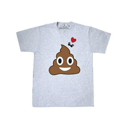Valentine's Day Love Poop Emoji and Flies T-Shirt