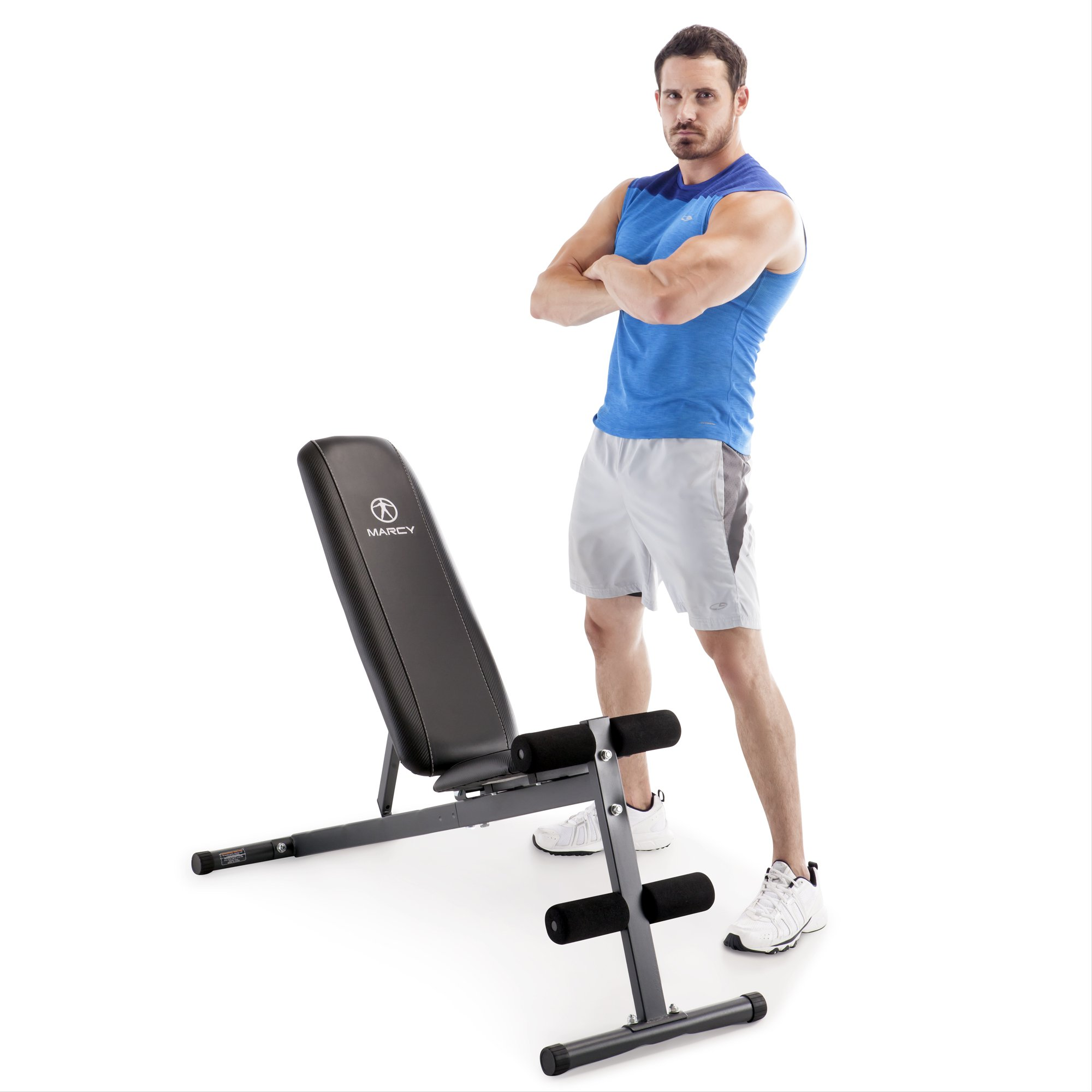 Marcy Pro Adjustable Home Gym Utility Exercise Weight Training Workout Bench