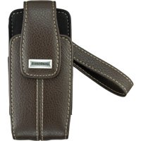 OEM Blackberry Pearl 8120 8130 8110 Leather Tote Case - Dark -