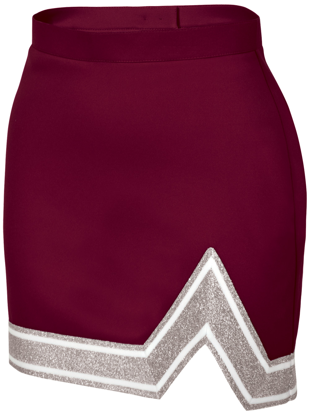 Chasse Girls' Blaze Skirt Maroon/White/Metallic Silver Youth Large Size - Large
