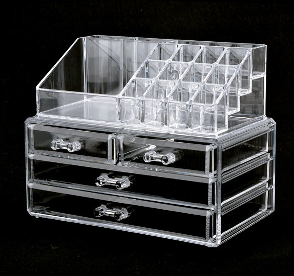 Acrylic Cosmetic Organizer 4 Drawers Makeup Case Storage ...