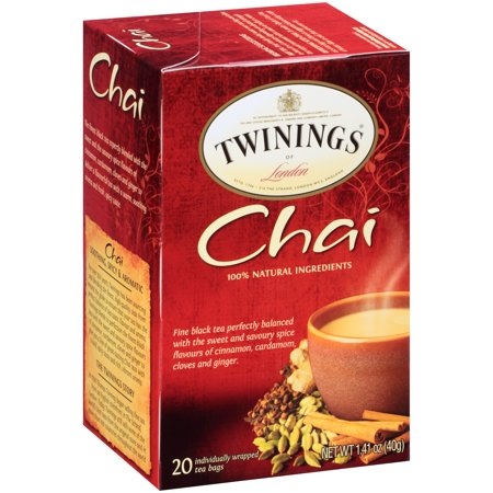 (4 Boxes) Twinings of London Chai Tea - 20 CT