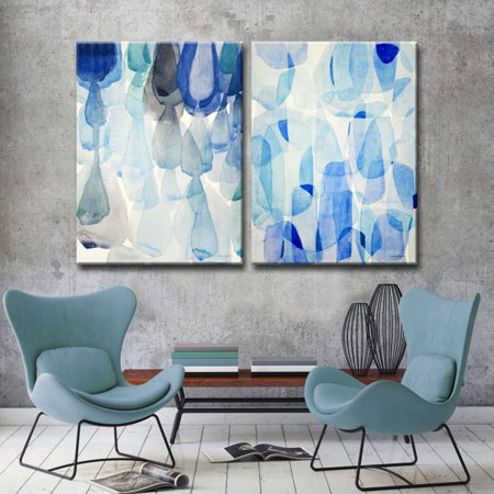 Ready2HangArt Down Pour and Heavy Rain Canvas Wall Art - Set of 2 ()