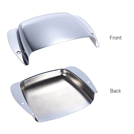 Chrome Plated Short Steel Bridge Cover Protector for Jazz Bass Electric Bass Guitar Part Replacement