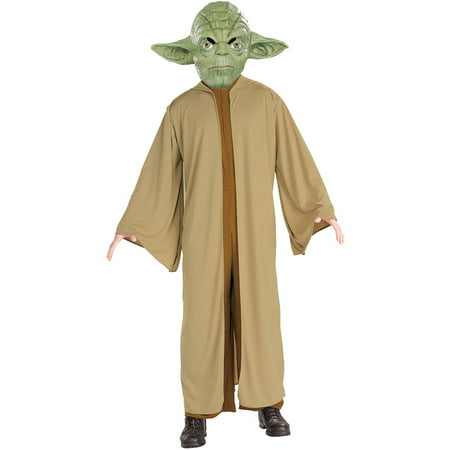 Star Wars Yoda Men's Adult Halloween Costume (Famous Rock Star Halloween Costumes)