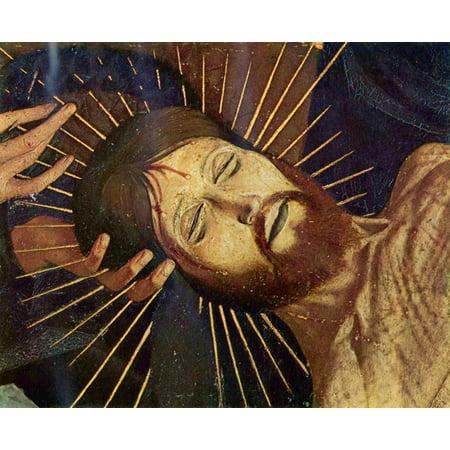 Framed Art for Your Wall Meister der Pietà von Avignon - Pietà of Villeneuve -les -Avignon, detail [2] 10 x 13 Frame ()