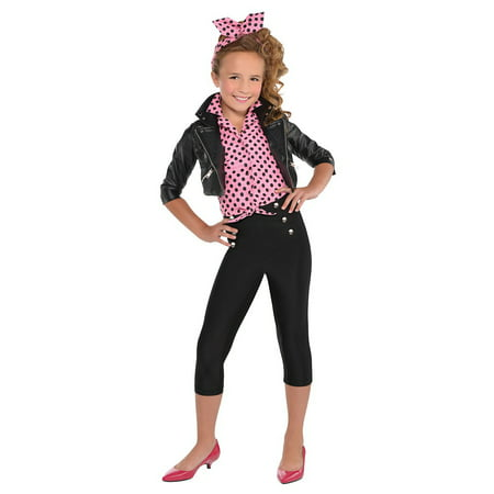 Greaser Girl Child Costume - Medium - Greaser Guy