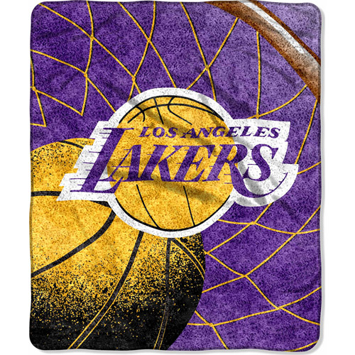 "NBA Reflect 50"" x 60"" Sherpa Throw, Lakers"