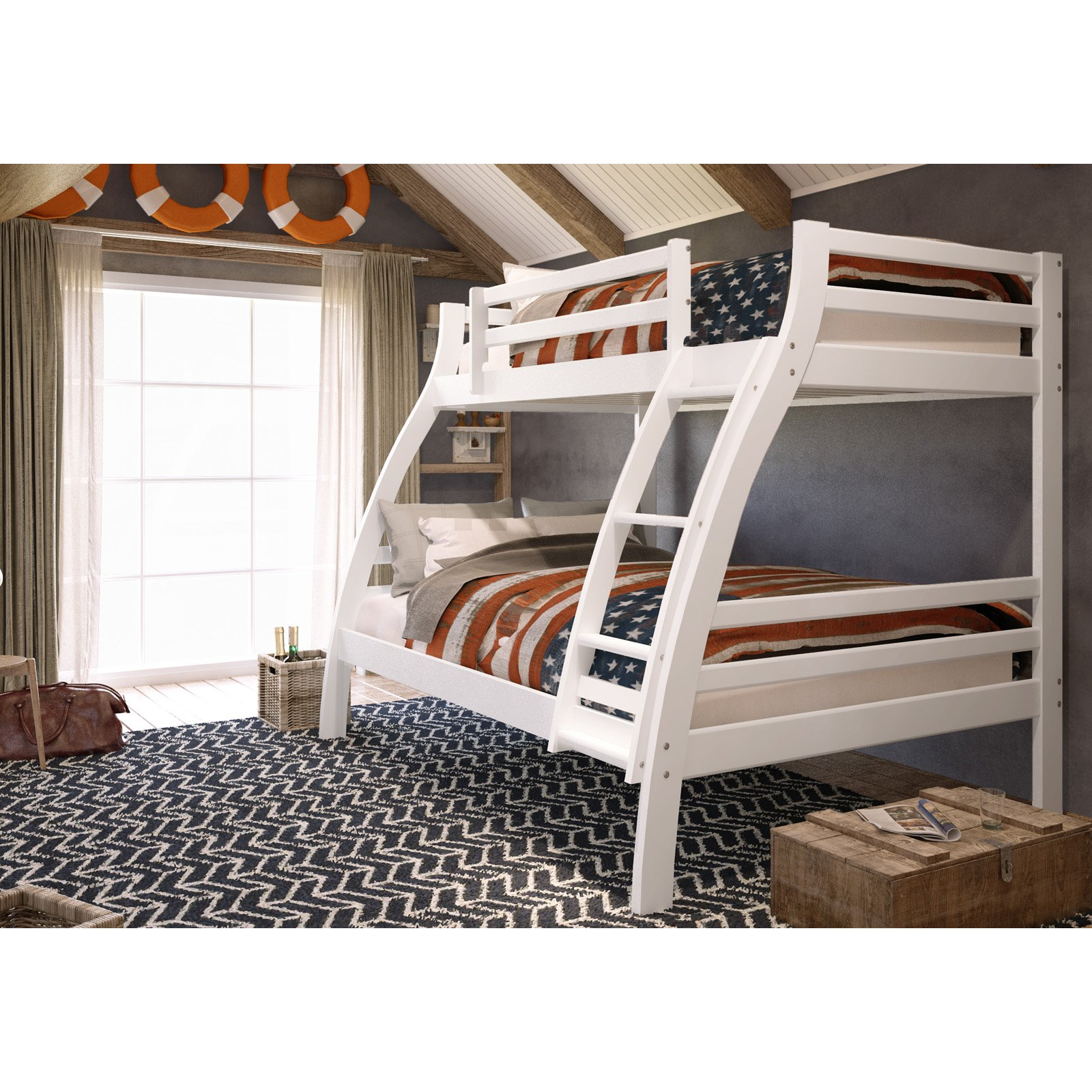 Woodcrest Pine Ridge Twin Over Full S Bunk Bed Walmart Com