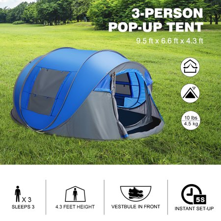 Finether 3 Person Pop Up Tent Outdoor Ultralight