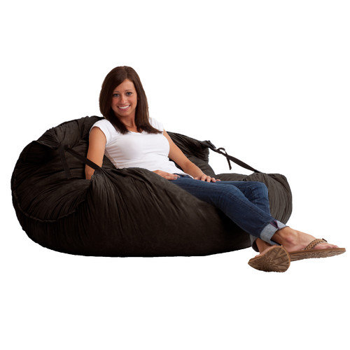 FUF 5 ft. Relax Comfort Suede Bean Bag Lounger