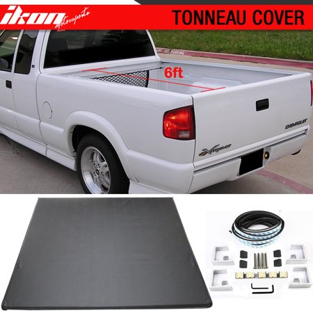 Fits 94-04 CHEVROLET S10/GMC S15 6ft Short Bed Lock Soft Tri-Fold Tonneau Cover