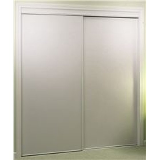 Home Decor Innovations 24 9533 100 Series Whitewood Vinyl Panel Bypass Door White 72X80 In