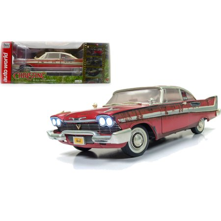 AUTO WORLD 1:18 SILVER SCREEN MACHINES - CHRISTINE - 1958 PLYMOUTH FURY - FOR SALE VERSION -
