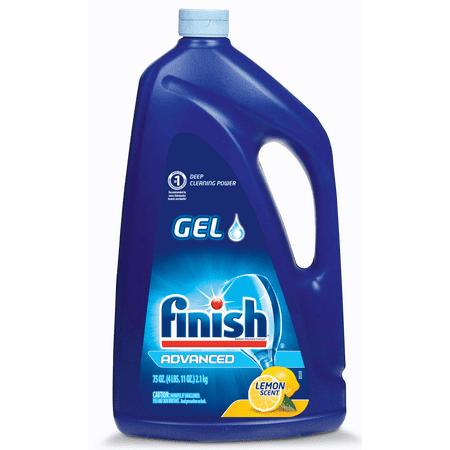 Finish Dishwasher Detergent Gel Liquid, Lemon Scent, 75oz
