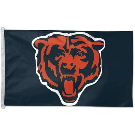 sale retailer f4a39 dda42 Chicago Bears 3'x5' Flag - Walmart.com
