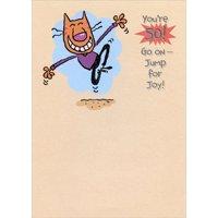 Designer Greetings Jump for Joy Funny Age 50 / 50th Birthday Card