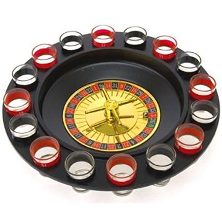 """Lucky Roulette Shot Glass Bar Drinking Game Set Fun & Exciting 12"""" by Bo toys"""