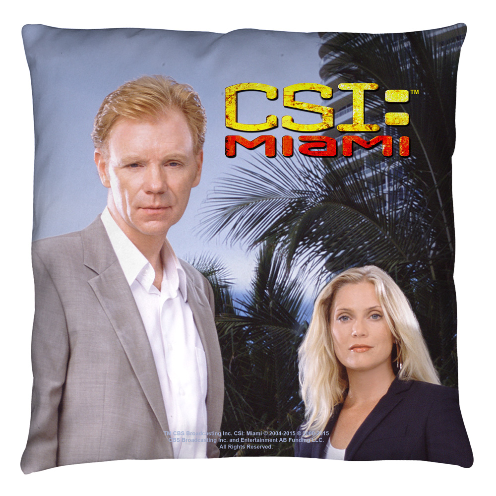 CSI Miami Blue Sky Throw Pillow White 26X26