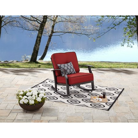 Iron Rocker - Better Homes and Gardens Carter Hills Outdoor Rocking Chair