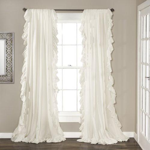 Greyleigh Minden Solid Rod Pocket Curtain Panels (Set of 2)