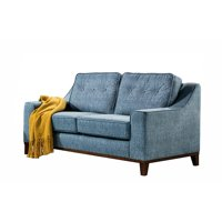 AE556-LS Mid Century Blue Color Green With Fabric Upholstered Tufted Loveseat