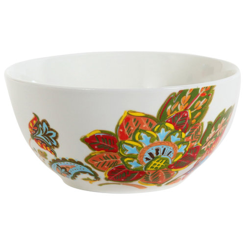 Better Homes and Gardens Floral Spray Cereal Bowl, Multi-Color