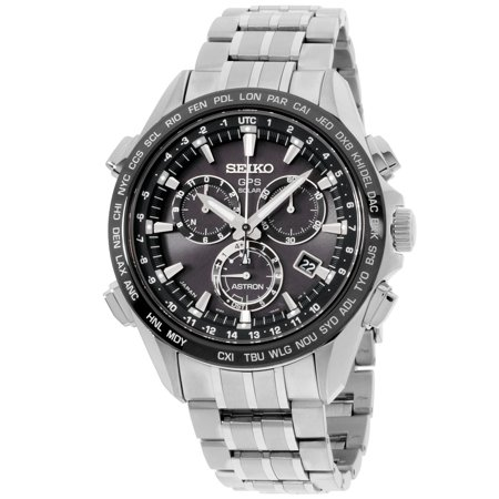 Seiko Men's GPS Solar Chronograph GPS controlled time Watch SSE003